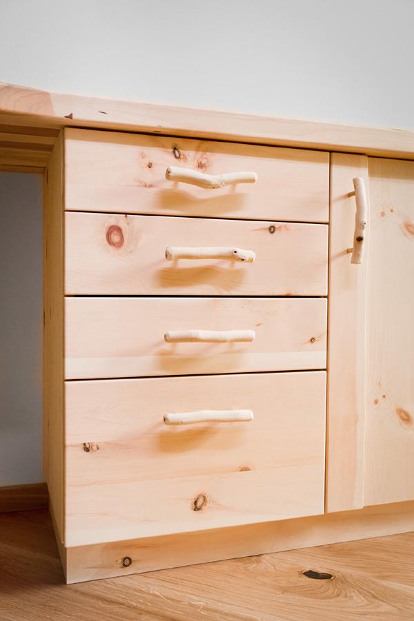 Zirben Kinderzimmer Büro Schreibtisch